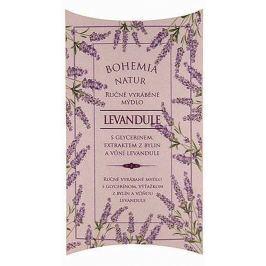 Bohemia Gifts & Cosmetics Levandule s glycerinem a extrakty z bylin ručně vyrobené toaletní mýdlo v papírové krabičce 100 g