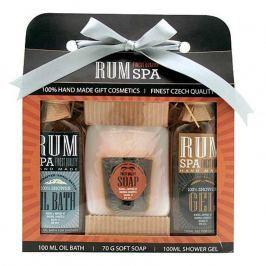 Bohemia Gifts & Cosmetics Rumová kosmetika sprchový gel 100 ml + ručně vyráběné tuhé mýdlo (panák) + olejová lázeň 100 ml, kosmetická sada Kosmetické sady