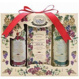 Bohemia Gifts & Cosmetics Wine Spa Vinná kosmetika sprchový gel 100 ml + Toaletní mýdlo 100 g + Vlasový šampon 100 ml Kosmetické sady