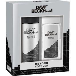 David Beckham Beyond Forever parfémovaný deodorant sklo pro muže 75 ml + deodorant sprej 150 ml, kosmetická sada
