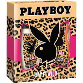 Playboy Play It Wild for Her parfémovaný deodorant sklo 75 ml + sprchový gel 250 ml, kosmetická sada 2016