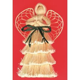 Anděl s vrstvenou sukní 16 cm