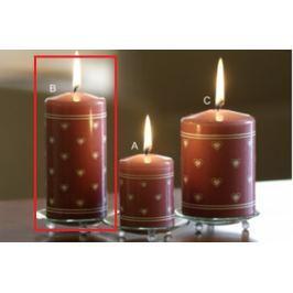 Lima Srdíčko potisk svíčka starorůžová válec 60 x 120 mm 1 ks Drogerie