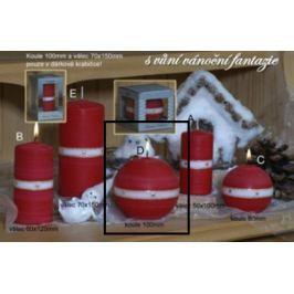 Lima Aura Vánoční fantazie vonná svíčka červená koule 100 mm 1 kus Drogerie