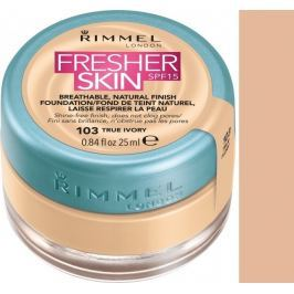 Rimmel London Fresher Skin Foundation make-up 103 True Ivory 25 ml