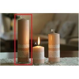 Lima Krajka svíčka terakota válec 60 x 220 mm 1 kus