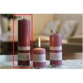 Lima Krajka svíčka starorůžová válec 60 x 220 mm 1 kus