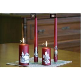 Lima Relief zimní svíčka metal vínová kužel 22 x 250 mm 1 kus