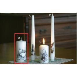 Lima Relief zimní svíčka metal bílá mrazivý efekt válec 60 x 120 mm 1 kus