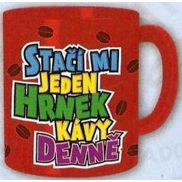 Nekupto Dárky s humorem Hrnek maxi Stačí mi jeden hrnek kávy denně 0,8 l, FX 012
