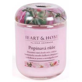 Heart & Home Popínavá růže Sojová vonná svíčka střední hoří až 30 hodin 110 g