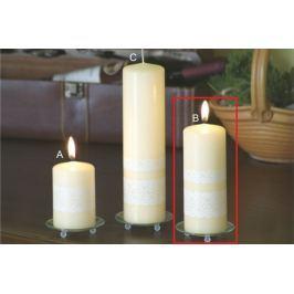 Lima Krajka svíčka creme válec 60 x 150 mm 1 kus