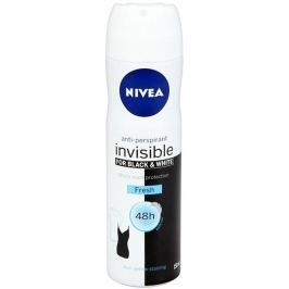 Nivea Black & White Invisible Fresh antiperspirant deodorant sprej pro ženy 150 ml