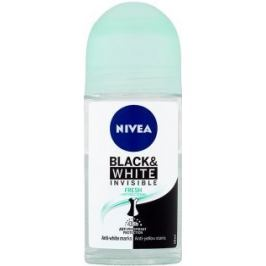 Nivea Invisible Black & White Fresh kuličkový antiperspirant deodorant roll-on pro ženy 50 ml