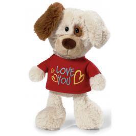 Nici Love You Pes v tričku Plyšová hračka - nejjemnější plyš 20 cm
