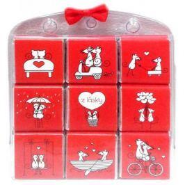 Nekupto Čokoládové puzzle Z lásky myš 9 x 5 g, WQ 002