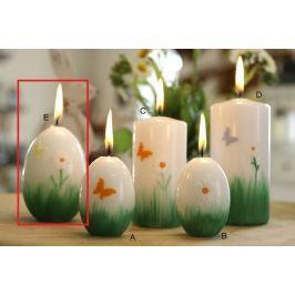 Lima Jarní relief motýlek, květina svíčka bílá velké vajíčko 60 x 90 mm 1 kus