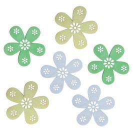 Květy dřevěné 6 cm 6 kusů