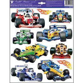 Room Decor Samolepky na zeď Závodní auta formule 33 x 29 cm