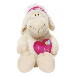 Nici Ovečka Jolly Meah se srdcem Plyšová hračka nejjemnější plyš 25 cm