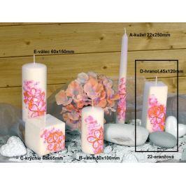Lima Květinová svíčka oranžová hranol 45 x 120 mm 1 kus