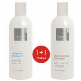 Ziaja Med Proti vypadávání vlasů šampon na vlasy 300 ml + zklidňující šampon proti svědění 300 ml, duopack