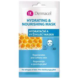 Dermacol Hydrating & Nourishing Mask textilní 3D hydratační a vyživující maska 15 ml