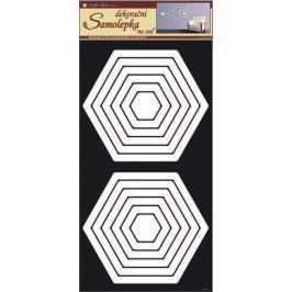 Room Decor Samolepky na zeď šestiúhelníky bílé 60 x 32 cm