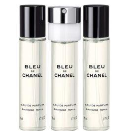 Chanel Bleu de Chanel parfémovaná voda pro muže 3 x 20 ml náplň