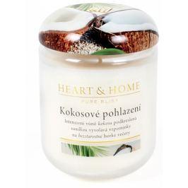 Heart & Home Kokosové pohlazení Sojová vonná svíčka velká hoří až 70 hodin 310 g