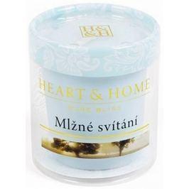 Heart & Home Mlžné svítání Sojová vonná svíčka bez obalu hoří až 15 hodin 53 g Drogerie