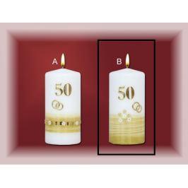 Lima Jubilejní 50 let svíčka Zlatá svatba Motiv B, 70 x 150 mm 1 kus