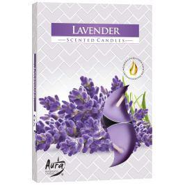 Bispol Aura Lavender - Levandule vonné čajové svíčky 6 kusů