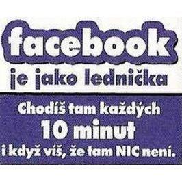 Nekupto Dárky s humorem Magnet ledničkový Facebook je jako 9 x 6,5 cm