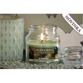 Lima Aroma Dreams Zelená oliva aromatická svíčka sklenička s víčkem 120 g