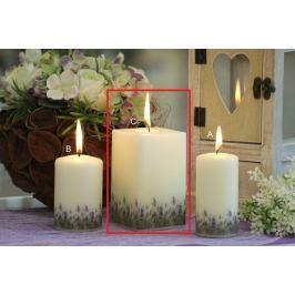 Lima Lavender vonná svíčka slonová kost hranol 65 x 120 mm 1 kus