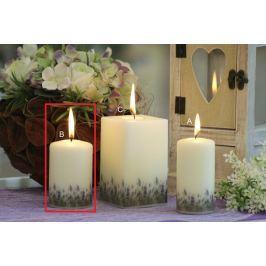Lima Lavender vonná svíčka slonová kost válec 60 x 90 mm 1 kus