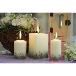 Lima Lavender vonná svíčka slonová kost válec 50 x 100 mm 1 kus