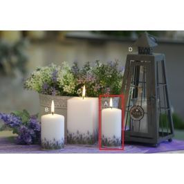 Lima Lavender vonná svíčka bílá válec 50 x 100 mm 1 kus