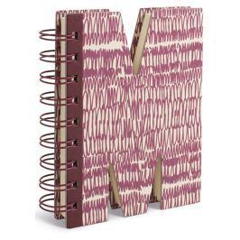 If Alphabooks Note Books Zápisník ve tvaru písmena M 91 x 14 x 124 mm