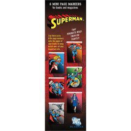 If Mini Page Markers Magnetická záložka Superman 6 kusů