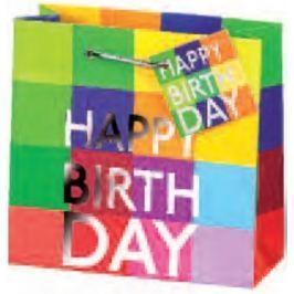 BSB Luxusní dárková papírová taška 23 x 19 x 9 cm Happy Birthday LDT 290-A5