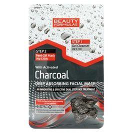 Beauty Formulas Charcoal Aktivní černé uhlí pleťová maska 13 g