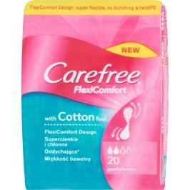 Carefree FlexiComfort with Cotton feel slipové vložky 20 kusů