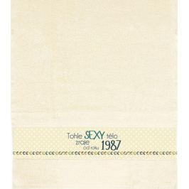 Albi Ručník Tohle sexy tělo zraje od roku 1987 béžová 90 cm × 50 cm
