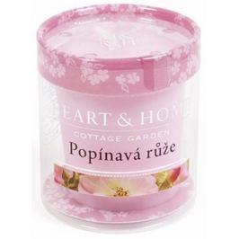 Heart & Home Popínavá růže Sojová vonná svíčka bez obalu hoří až 15 hodin 53 g