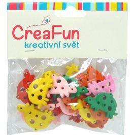 CreaFun Dřevěné přívěsky Želva mix barev 3 x 2 cm 25 kusů