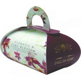 English Soap Clematis & Limetkový květ přírodní parfémované mýdlo s bambuckým máslem 260 g
