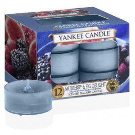 Yankee Candle Mulberry & Fig Delight - Lahodné moruše a fíky vonná čajová svíčka 12 x 9,8 g