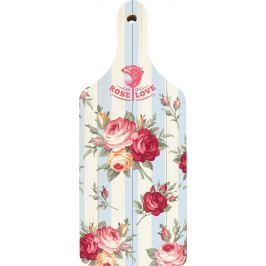 Bohemia Gifts & Cosmetics Dekorativní prkénko Rose Love s originálním potiskem 28 x 12 cm